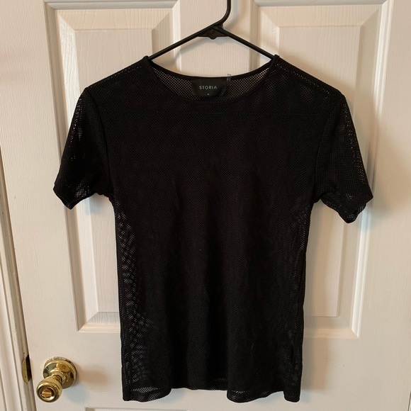 Tobi Tops - Tobi mesh fitted t-shirt (never worn)